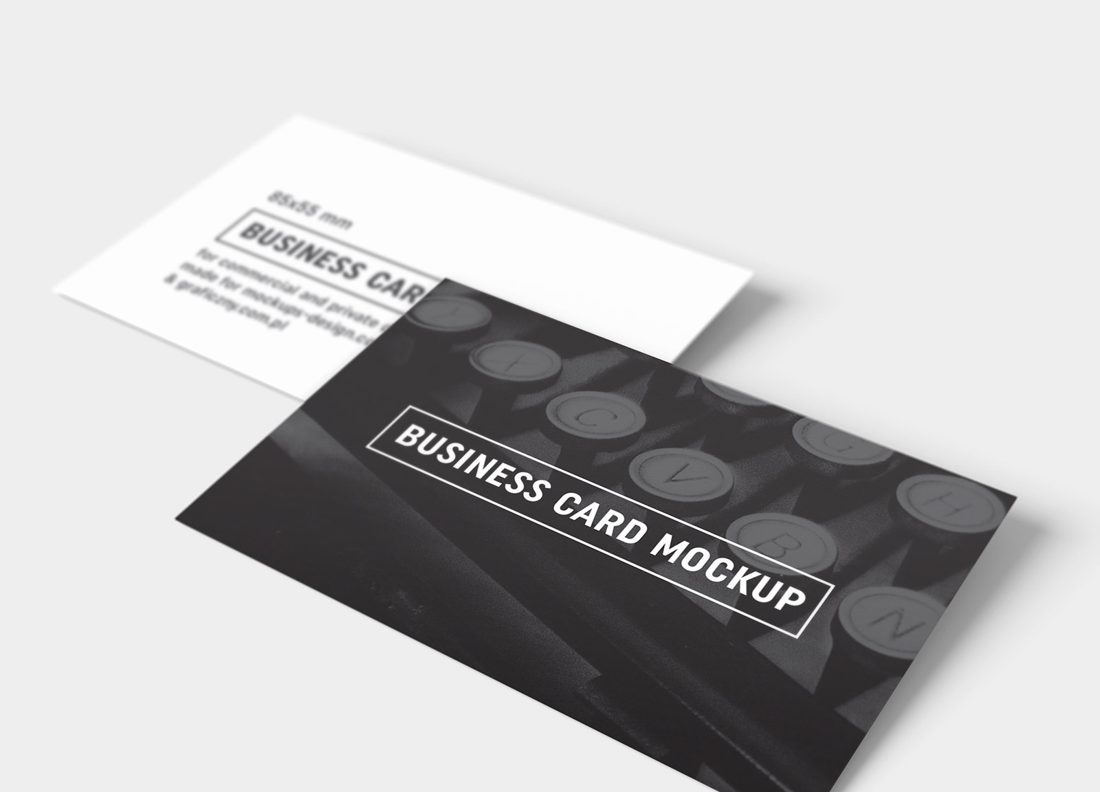 Free Black & White Business Card Mockup PSD Templates - Good Mockups