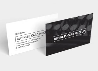 Free-Black-&-White-Business-Card-Mockup-PSD-(F)