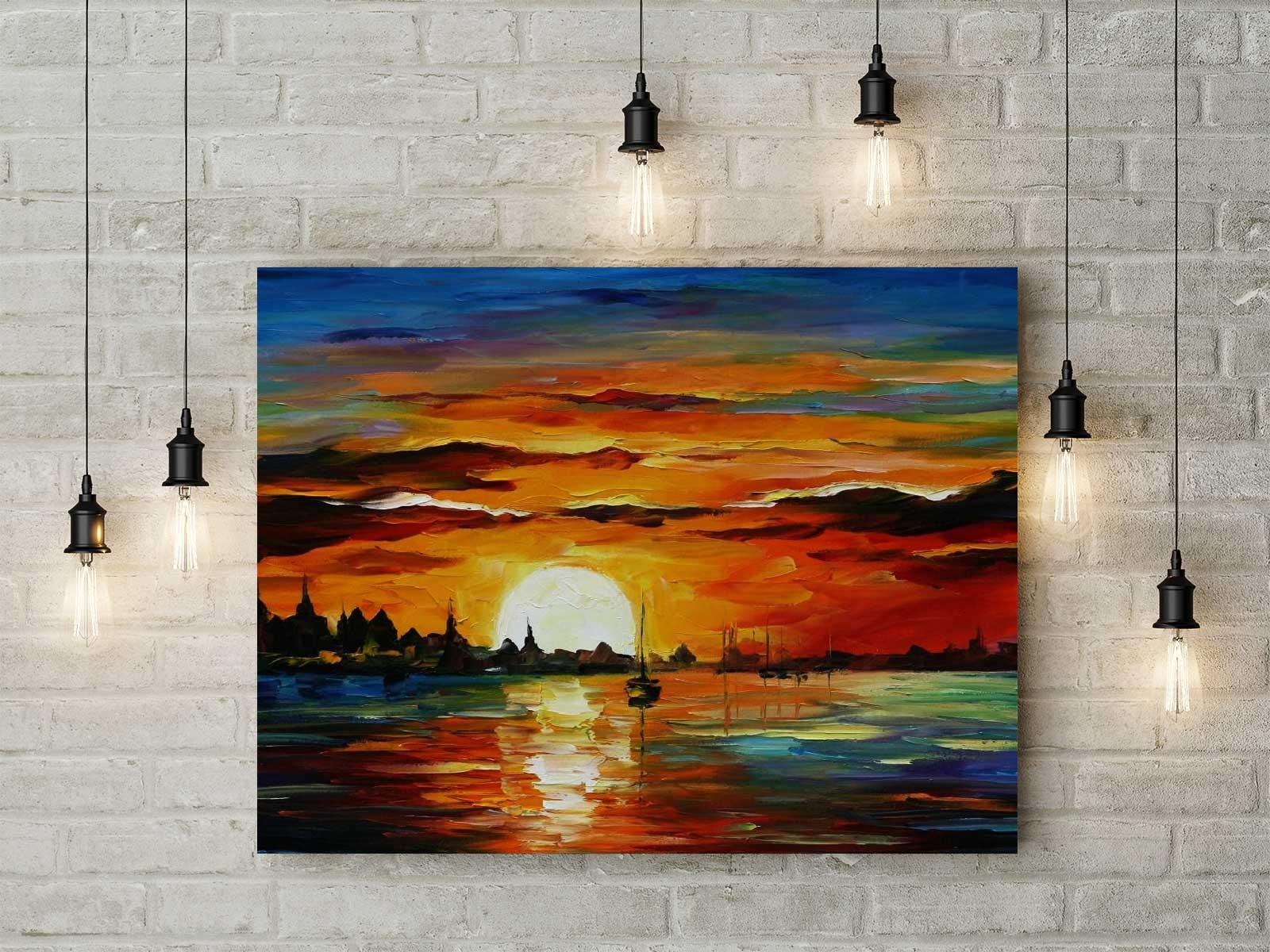 Free Canvas Wall Painting Mockup Psd Good Mockups