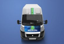 Free-Cargo-Express-Van-Mockup-PSD