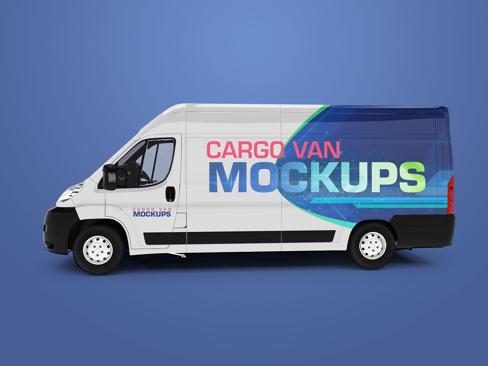 Free-Cargo-Express-Van-Mockup-PSD-3