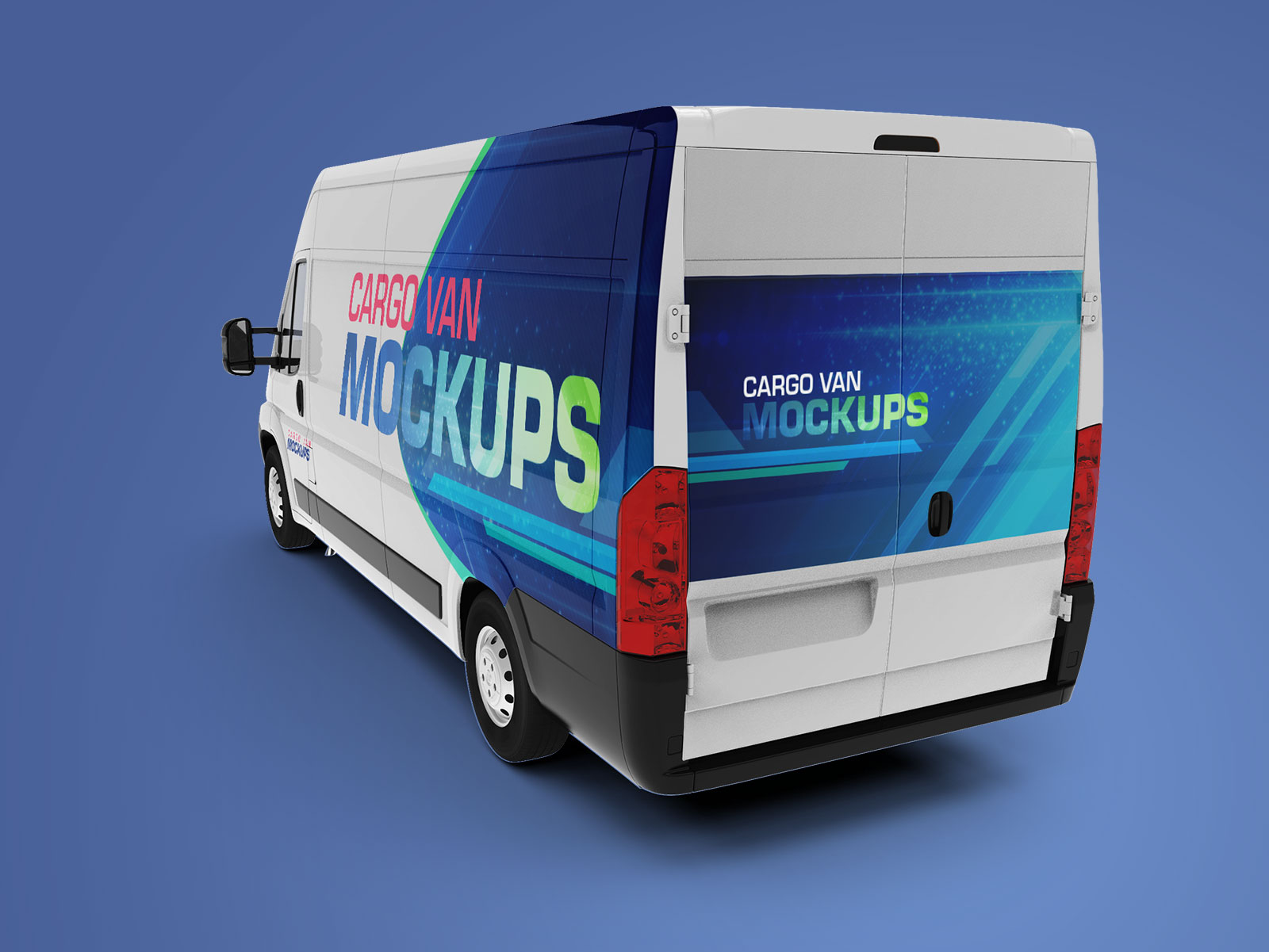 Free-Cargo-Express-Van-Mockup-PSD-file