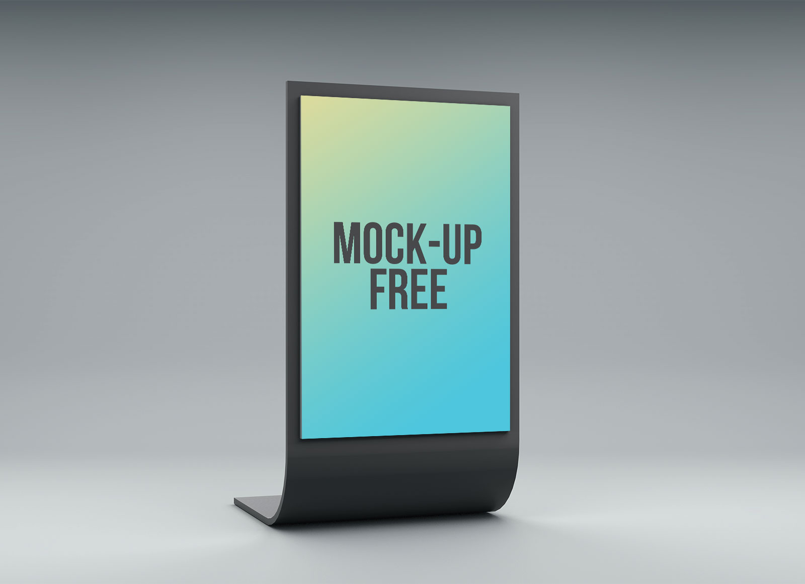Exhibition Stand Mockup Free : Free curved d display stand mockup psd files good mockups