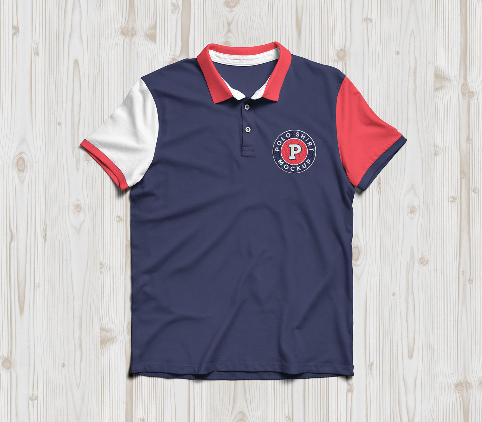 Free half sleeves polo t shirt mockup psd good mockups for Free polo shirt mockup
