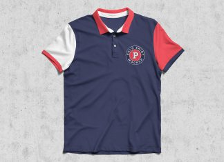Free-Half-Sleeves-Polo-T-Shirt-Mockup-PSD