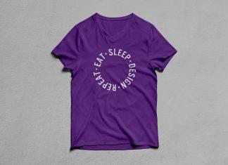 Free-Half-Sleeves-V-Neck-T-Shirt-Mockup-PSD-4