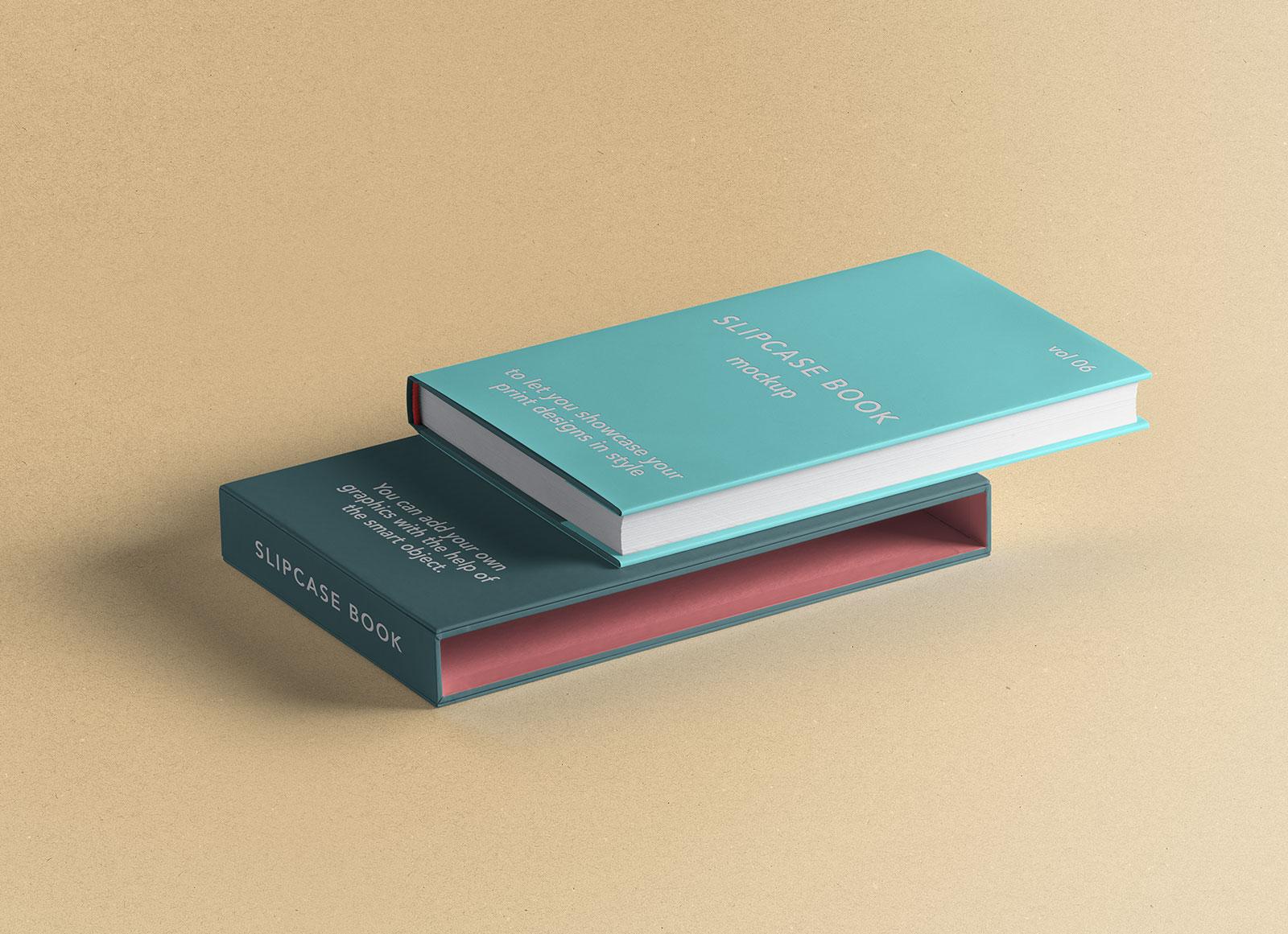 Free-Hardcover-Book-&-Slip-Case-Mockup-PSD