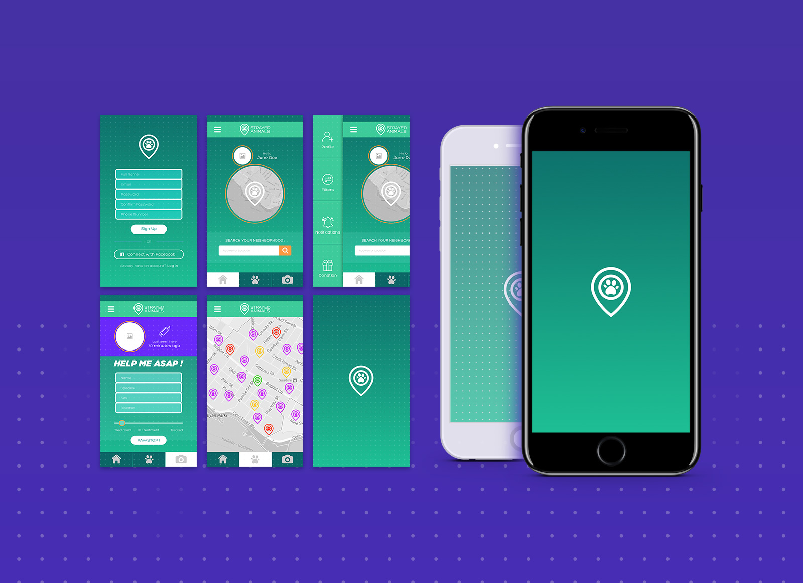 free mobile app design mockup psd file