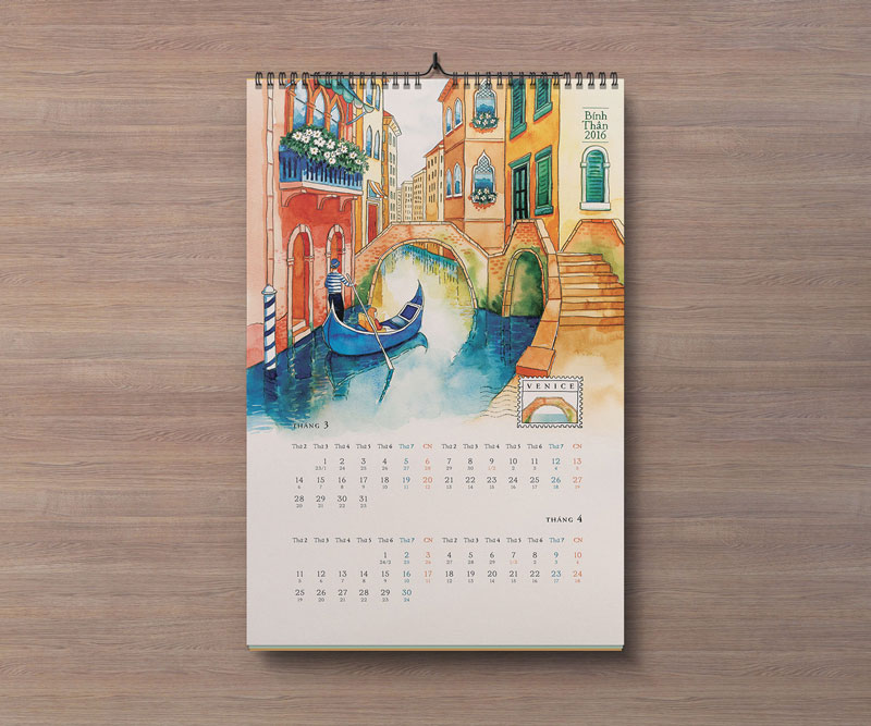 Free Portrait  Landscape Wall Calendar Mockup Psd Files  Good Mockups