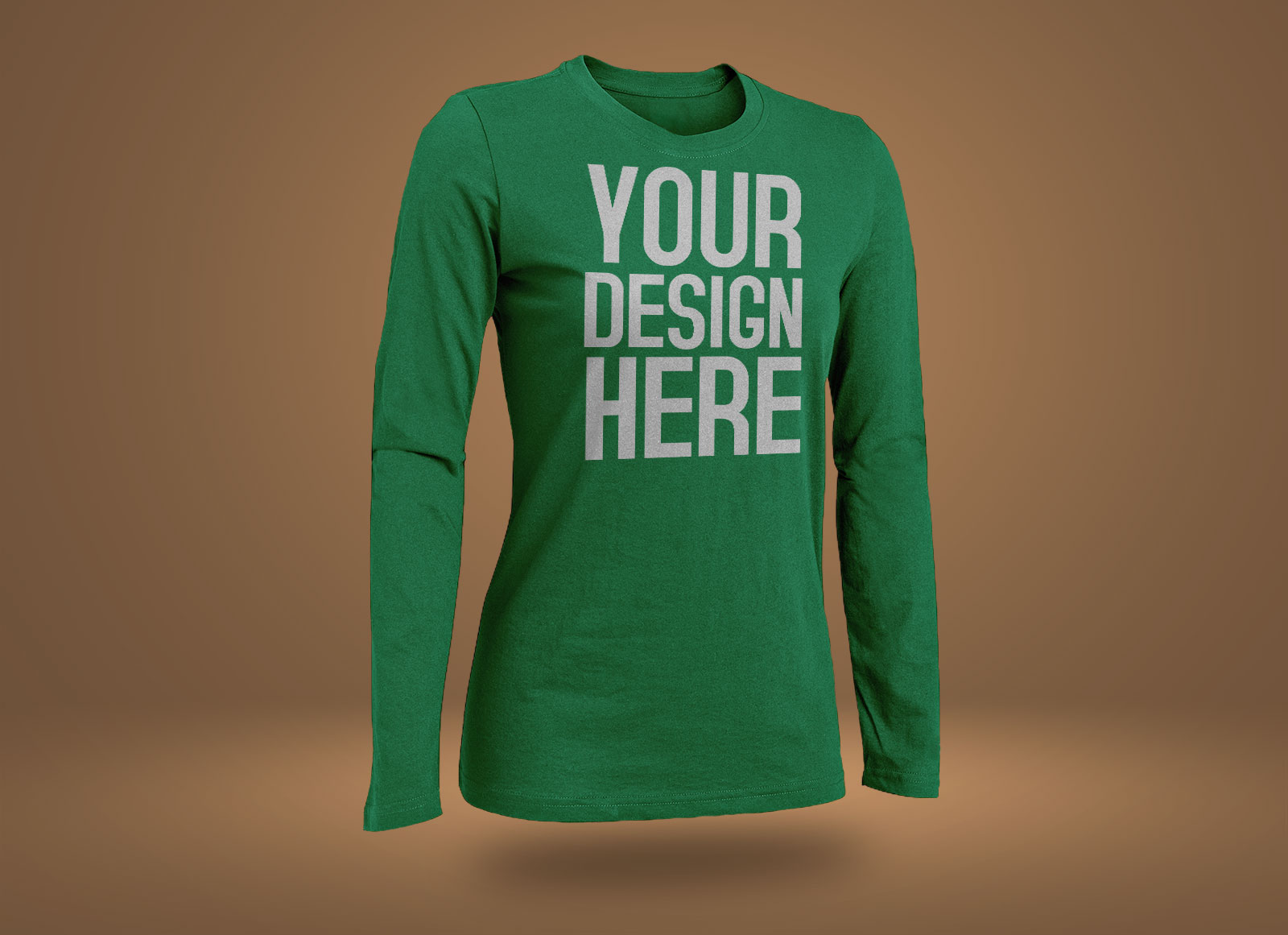 Free-Rounded-Neck-Long-Sleeves-T-Shirt-Mockup-PSD