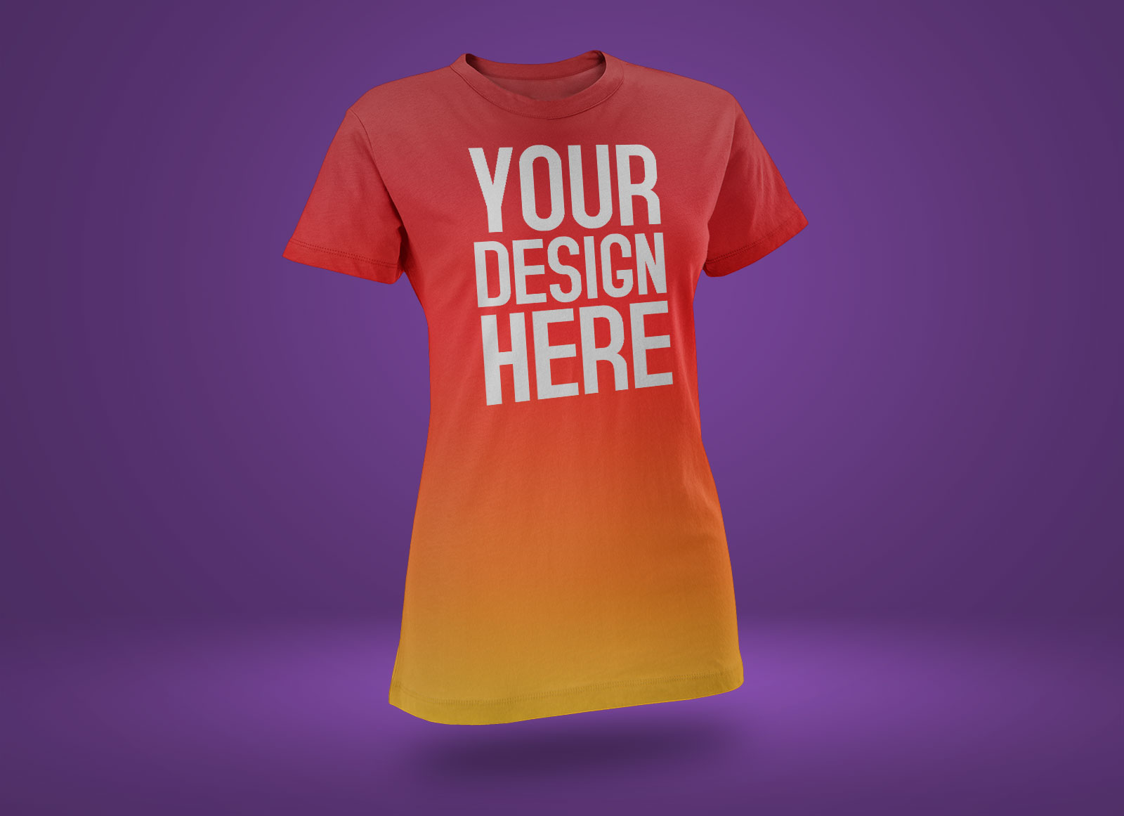 Free-Rounded-Neck-Short-Sleeves-T-Shirt-Mockup-PSD-file