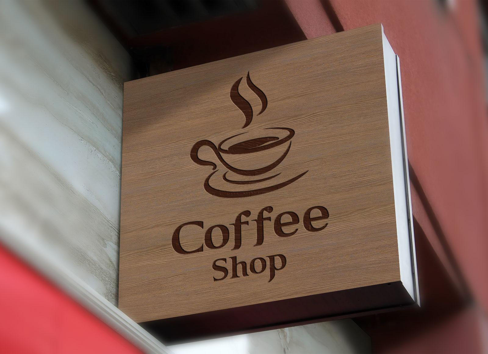 Free-Wall-Mounted-Coffee-Shop-Sign-Board-Mockup-PSD