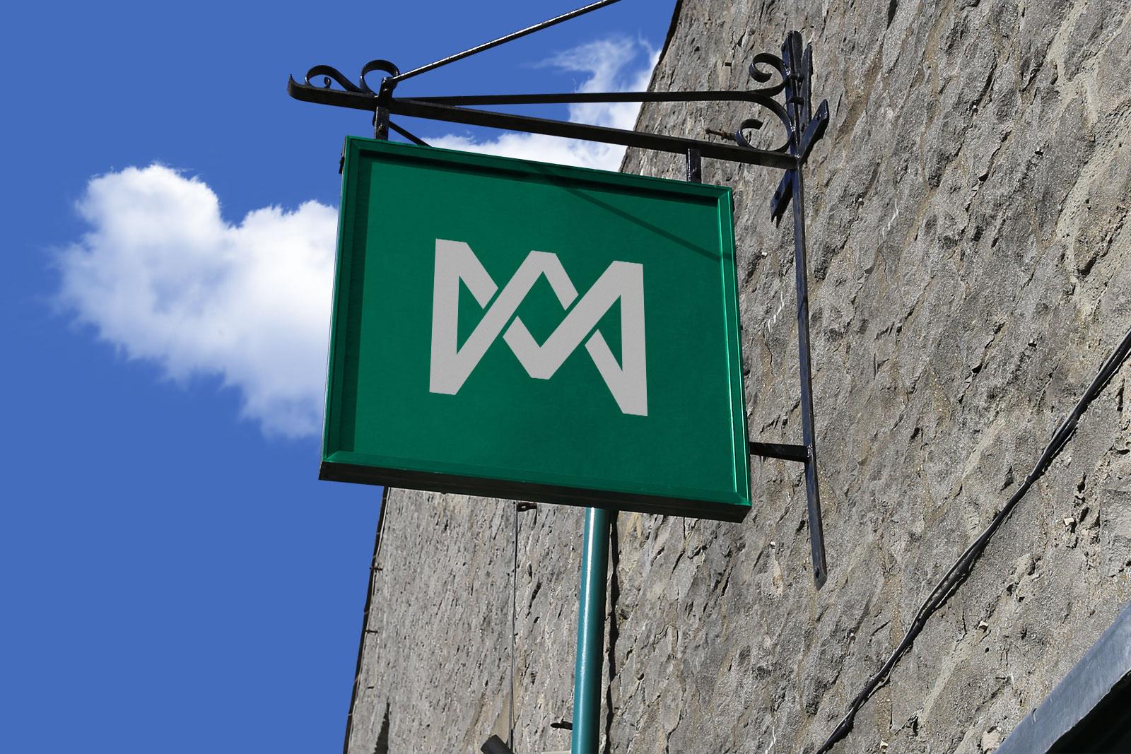 Free-Wall-Mounted-Shop-Sign-Board-Mockup-PSD