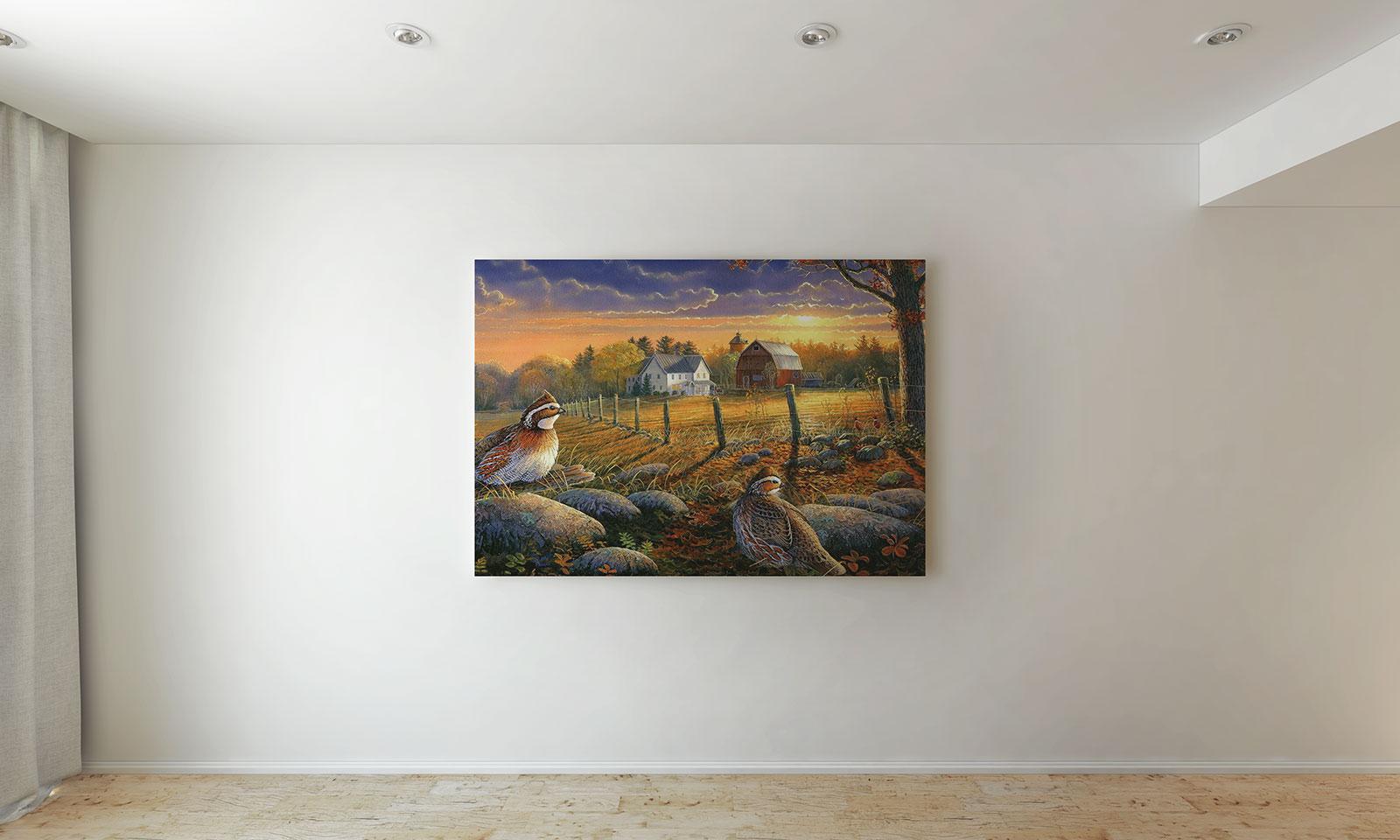Free Wall Painting Canvas Photo Frame Mockup Psd Good