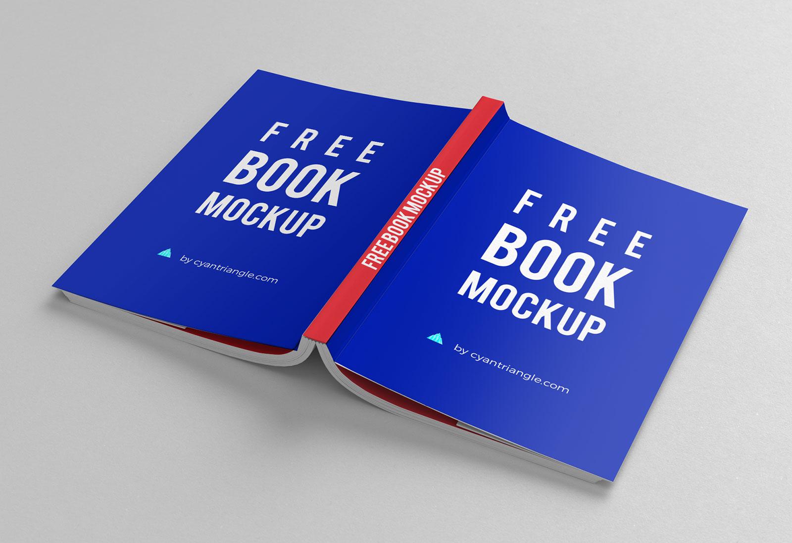 10 Free Hardcover Book Mockup PSD Set - Good Mockups