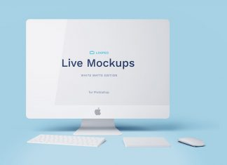 Free Apple Devices Mockup PSD