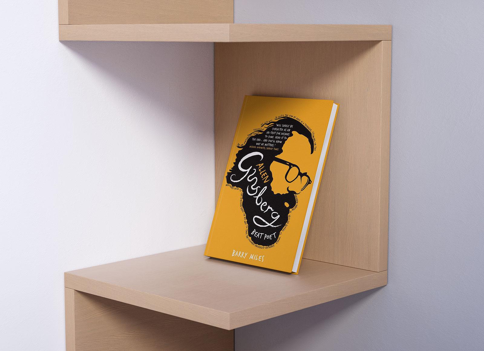 Free Book On Shelf Mockup PSD