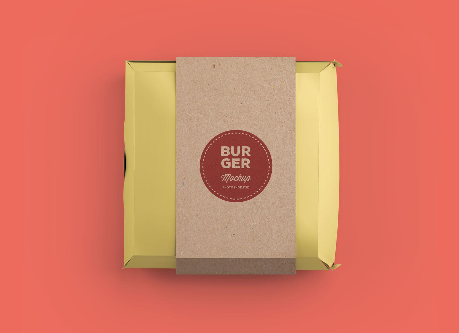 Free Burger Box Packaging Mockup Psd Good Mockups