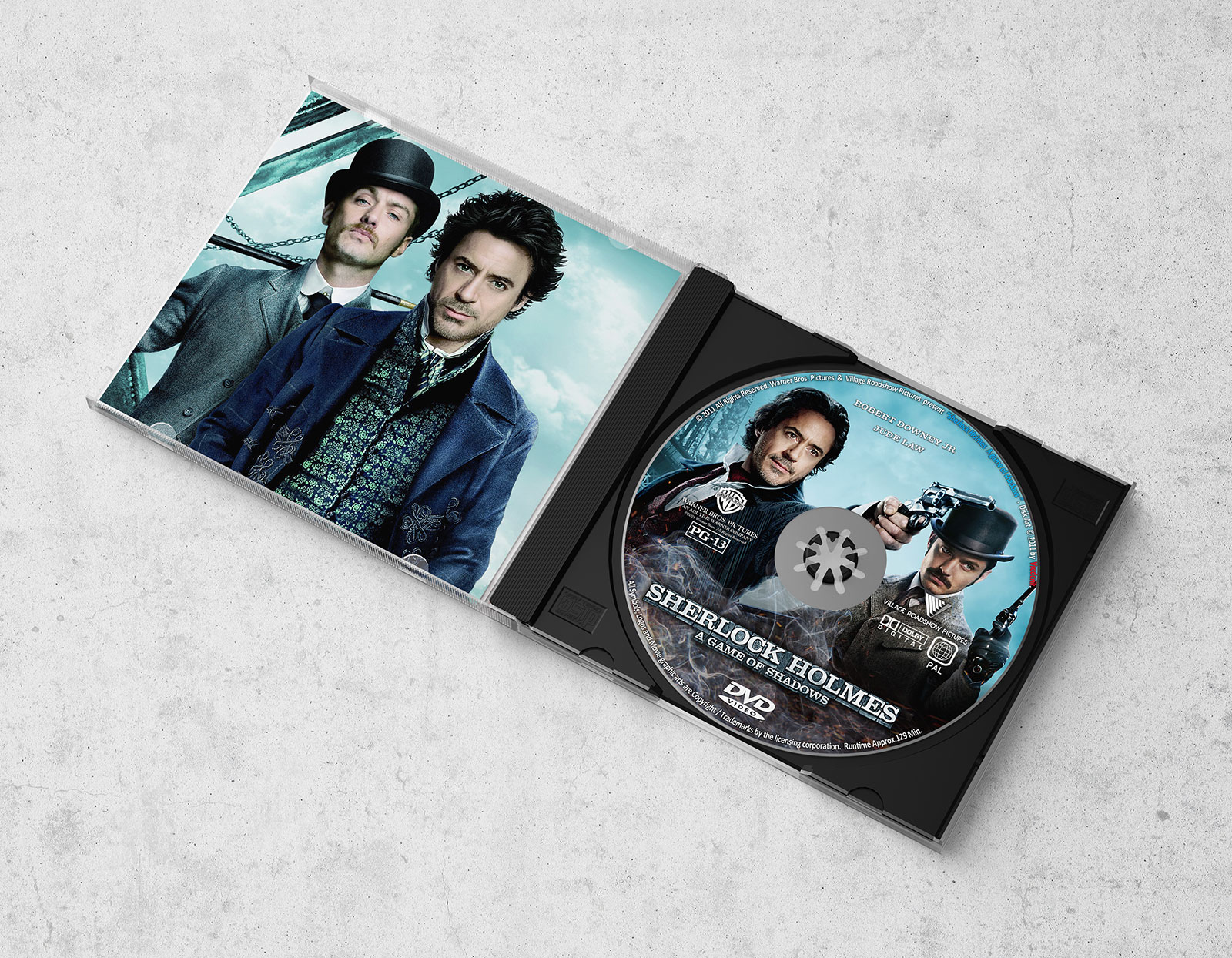 Free CD Album - DVD Disc Case Packaging Mockup PSD (5)