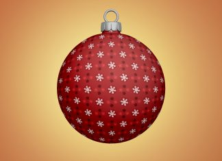 Free-Christmas-Tree-Bauble--Ball-Ornaments-Mockup-PSD