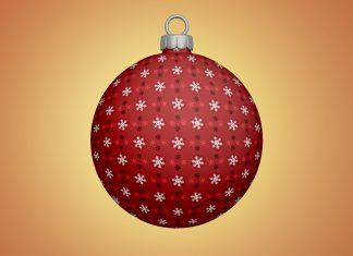 Free-Christmas-Tree-Bauble--Ball-Ornaments-Mockup-PSD
