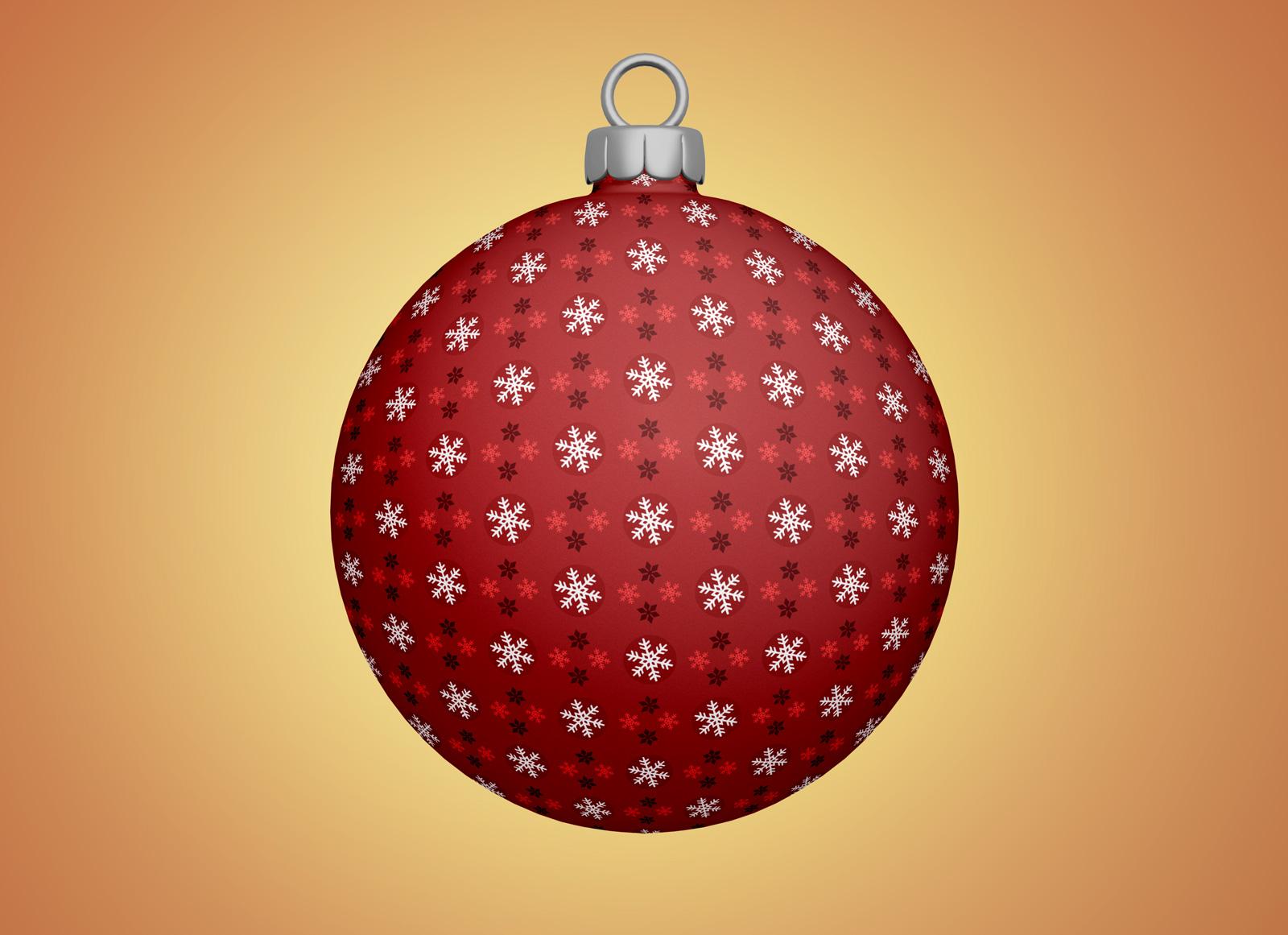 Free christmas tree bauble ball ornaments mockup psd good mockups