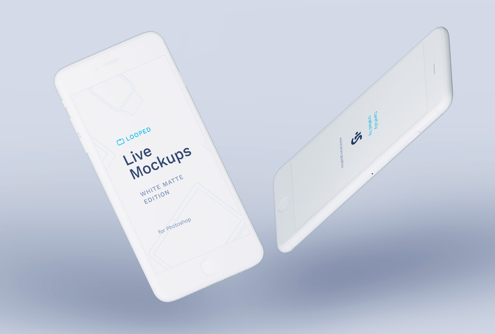 Free Clay iPhone White Mockup PSD
