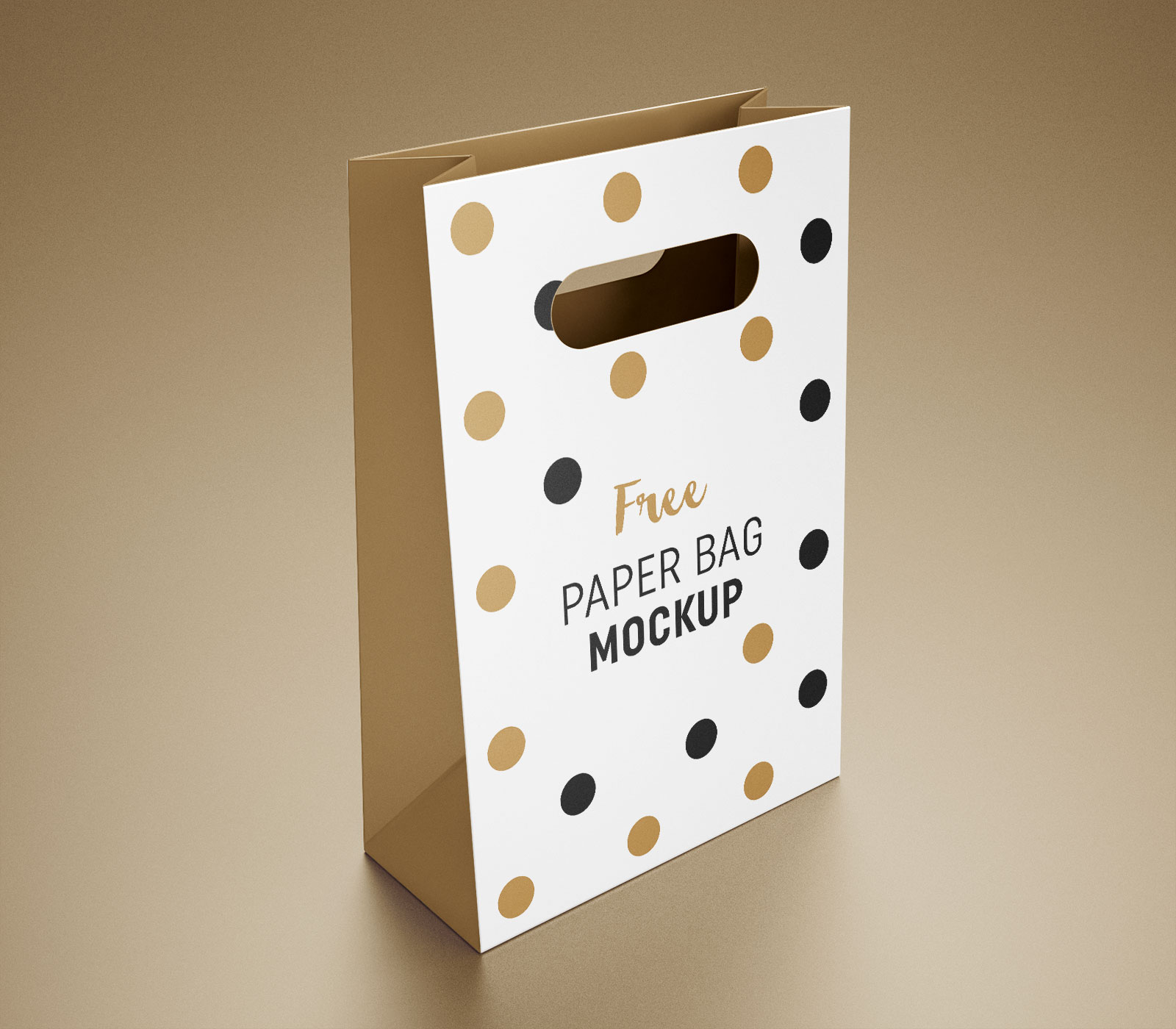 Free Paper Packaging Gift Shopping Bag Mockup PSD