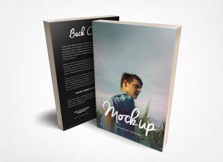 Free-Front-&-Back-Paperback-Book-Mockup-PSD