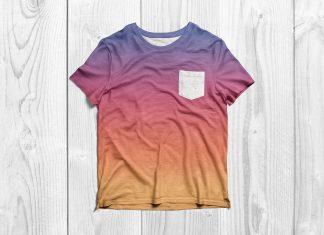 Free-Half-Sleeves-Pocket-T-Shirt-Mockup-PSD-2