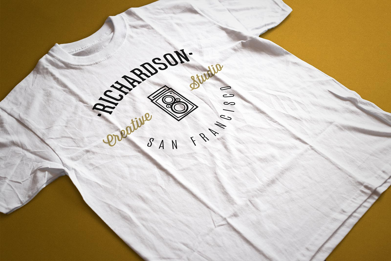 Free-Half-Sleeves-Pressed-T-Shirt-Mockup-PSD