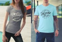Free-Male-&-Female-T-Shirt-Mockup-PSD-Files