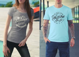 Free-Male-&-Female-T-Shirt-Mockup-PSD-Files