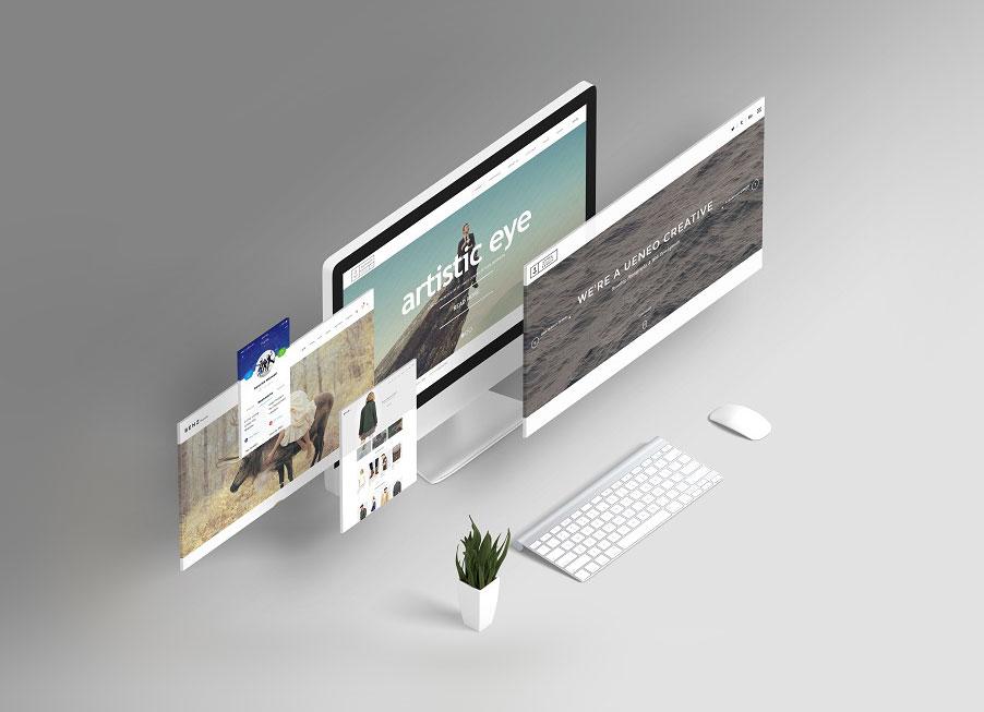 free responsive website design showcasing mockup psd - good mockups, Powerpoint templates
