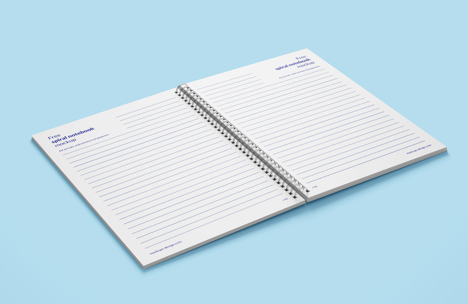 Free Spiral Notebook Mockup PSD (2)
