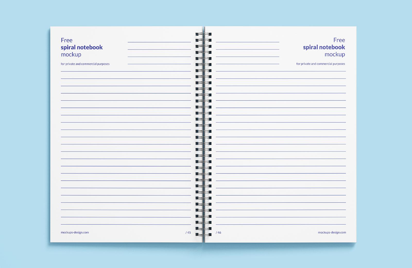 Free Spiral Notebook Mockup PSD (4)