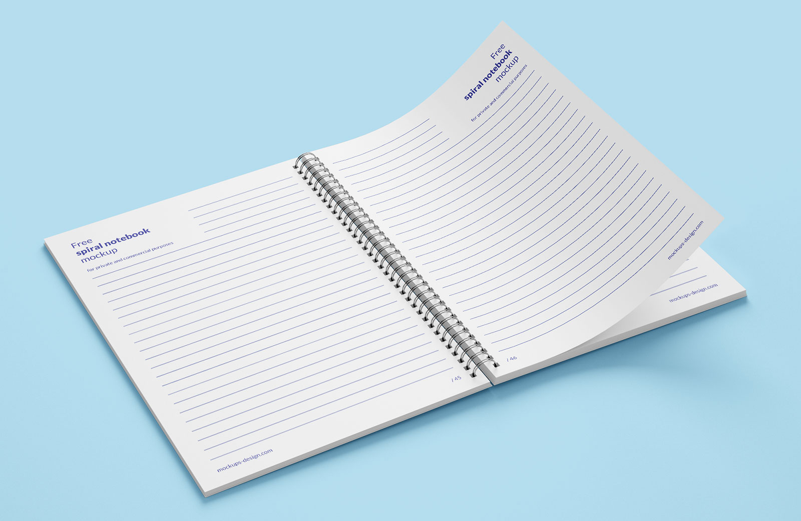 Free Spiral Notebook Mockup PSD (5)