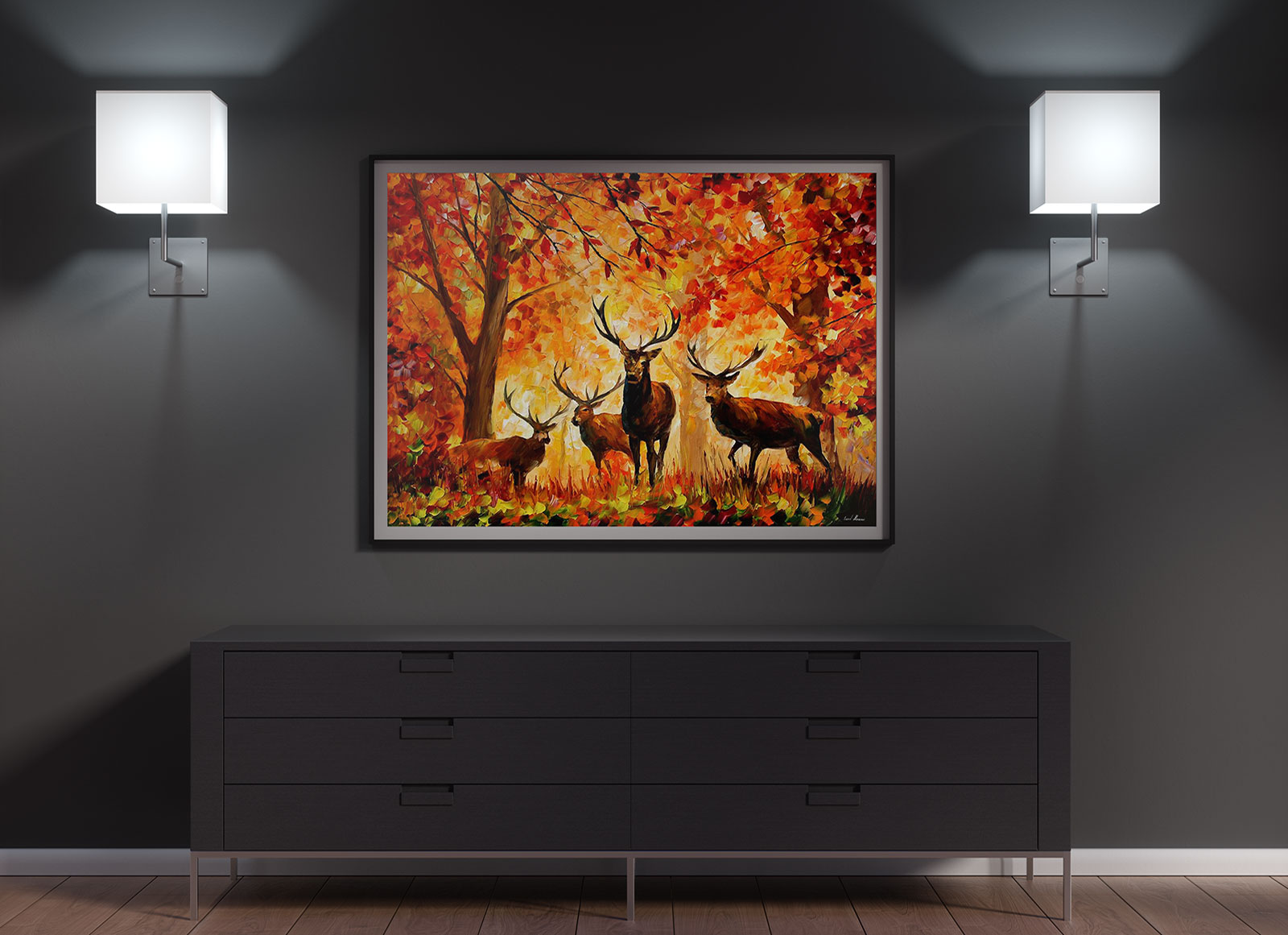 Free Wall Frame Canvas Painting Mockup Psd Good Mockups