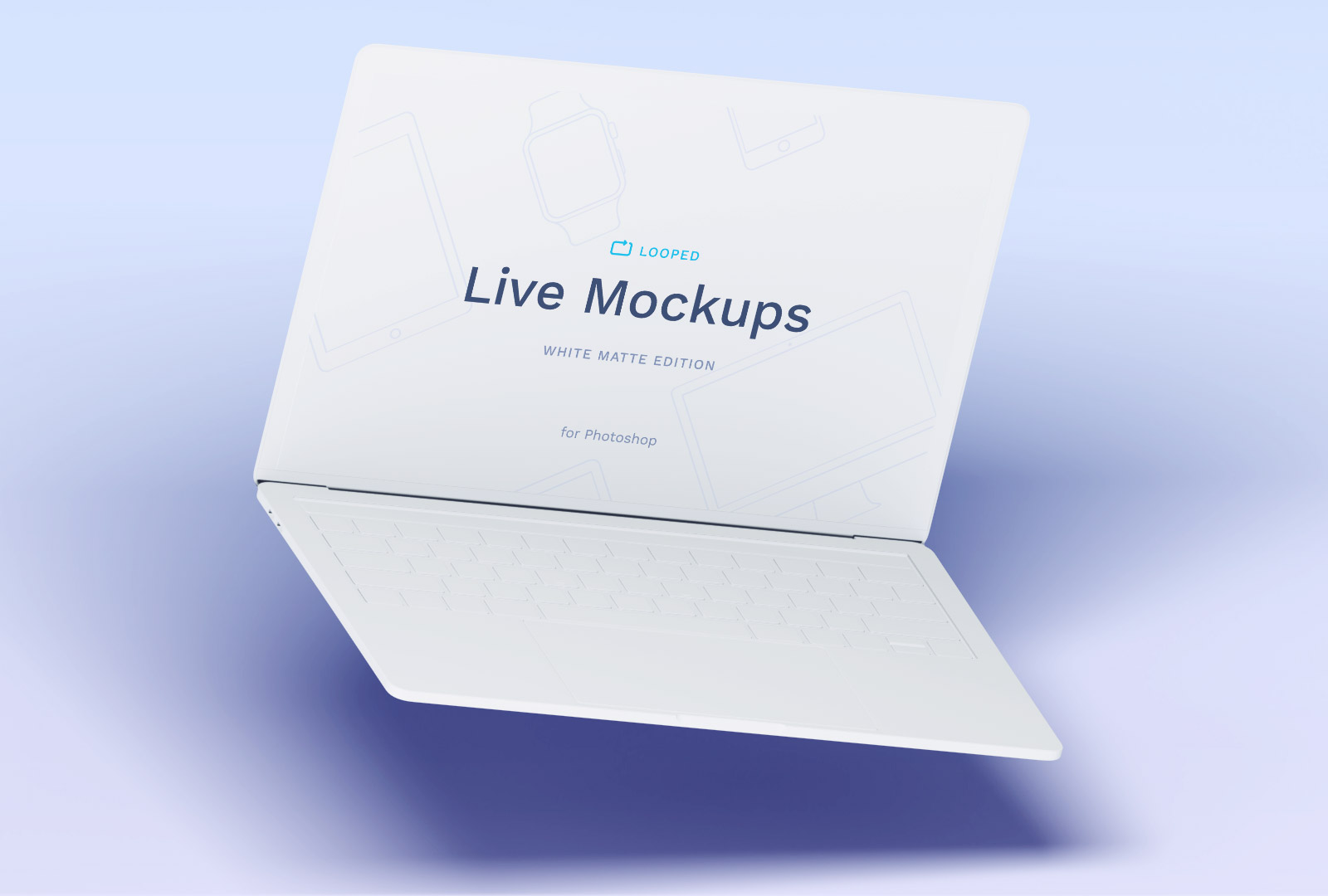 Free White Macbook Mockup PSD