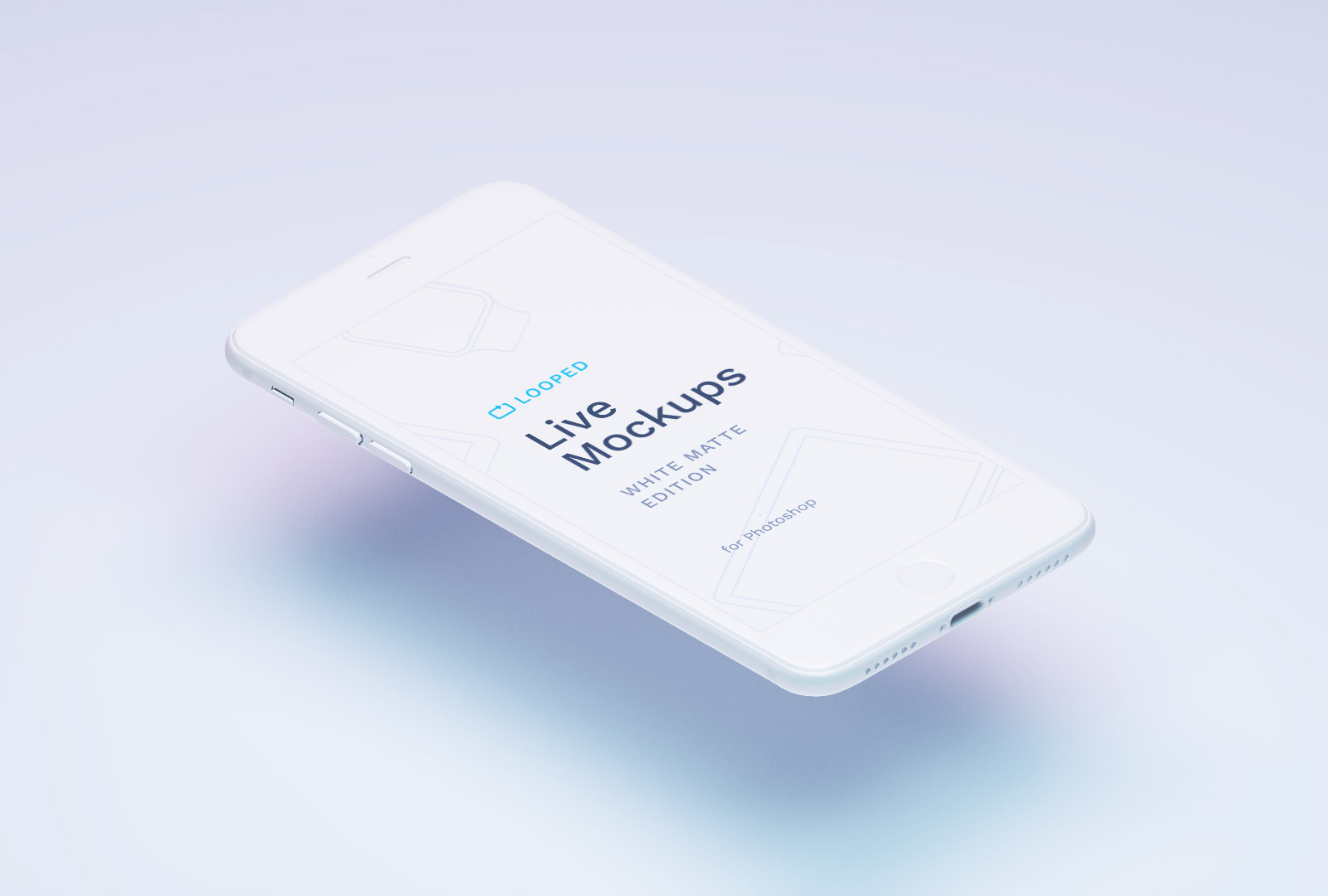 Free White iPhone Mockup PSD