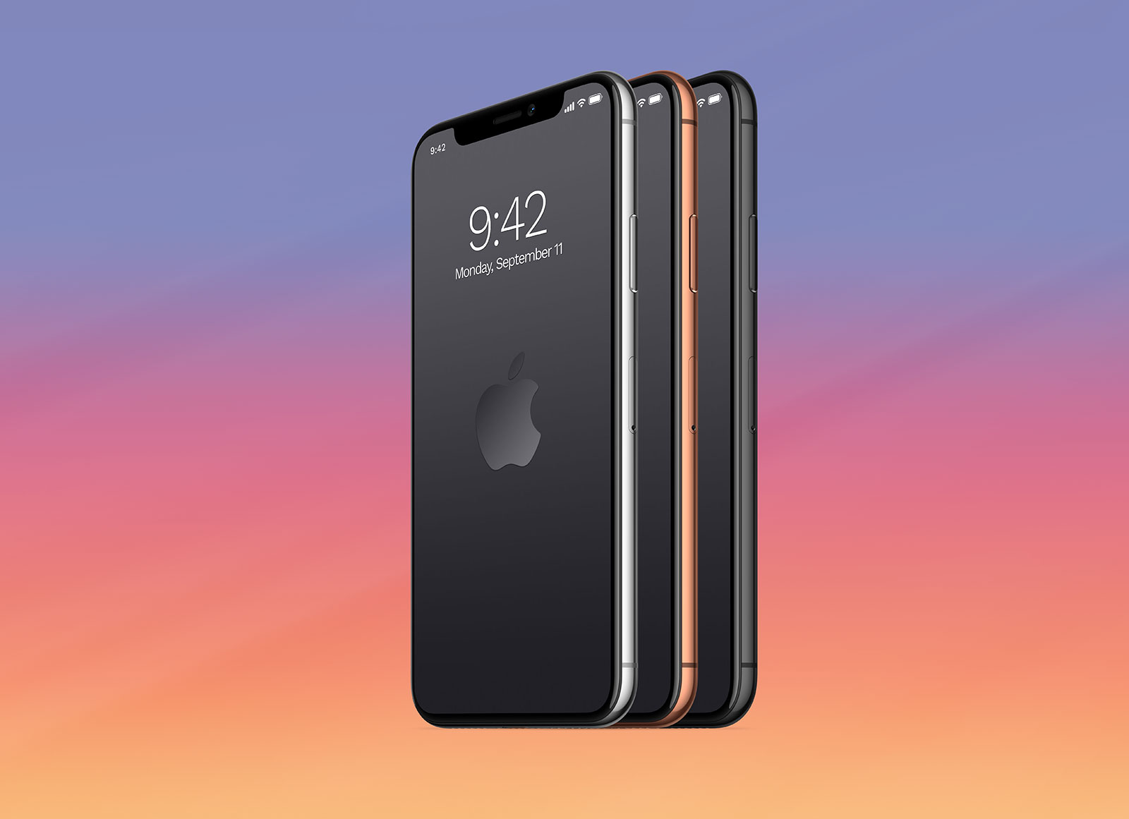 Free Iphone X Side View Psd Mockup Template Good Mockups