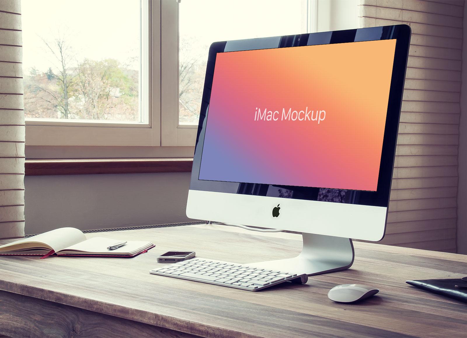 Free-Apple-iMac-Photo-Mockup-PSD-File