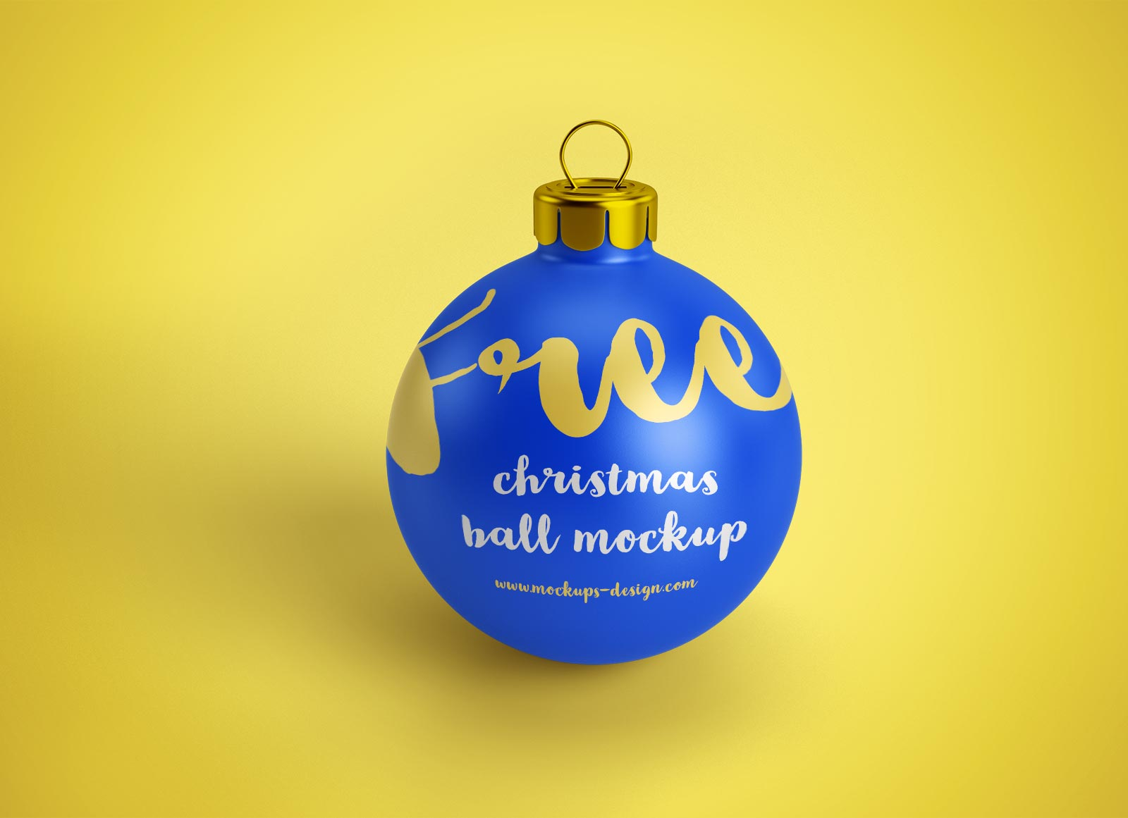 free christmas ball  bauble  ornament mockup psd files