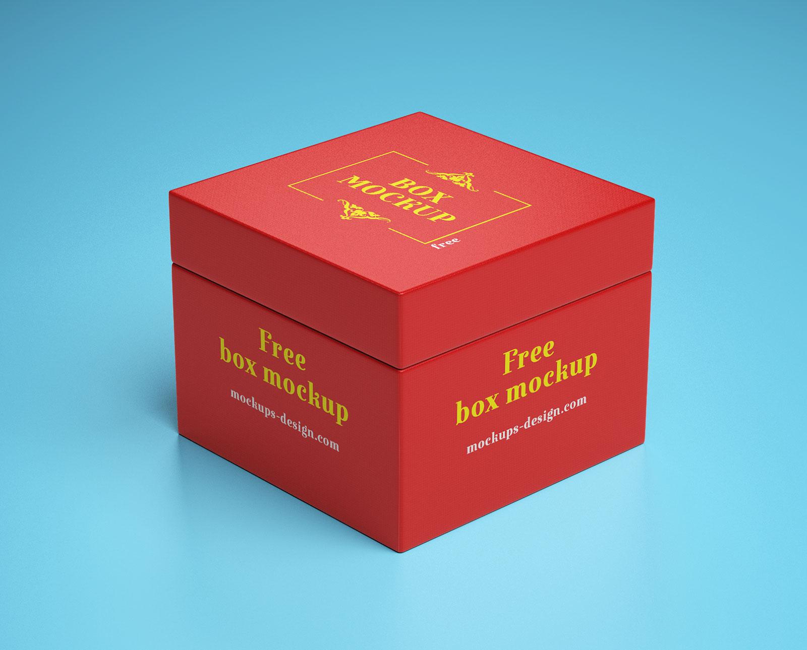 Free Gift Box Packaging Mockup PSD (1)