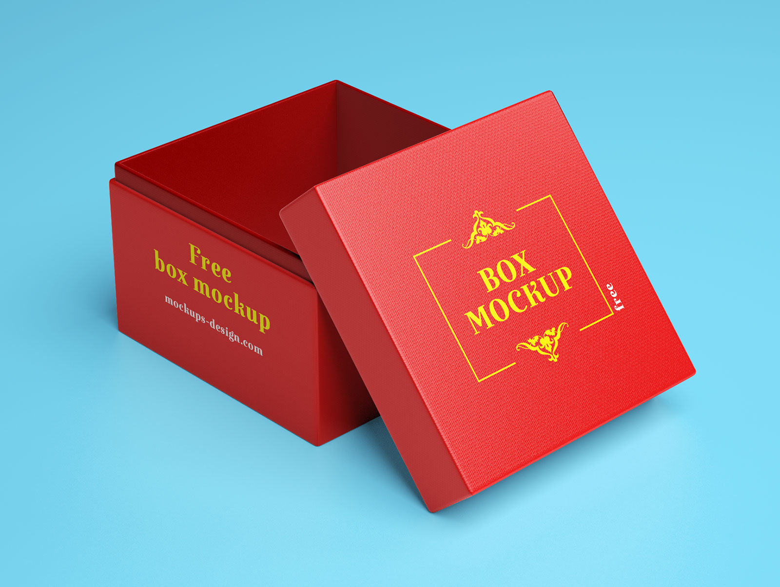 Free Gift Box Packaging Mockup PSD (2)