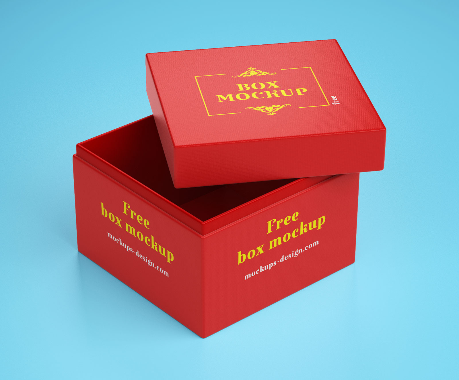 Free Gift Box Packaging Mockup PSD (3)