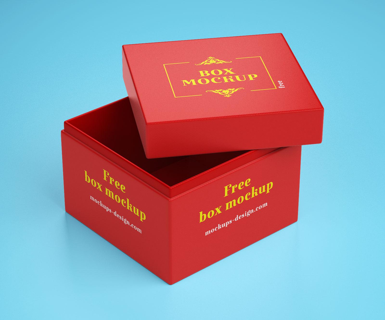 Free Gift Box Packaging Mockup PSD (3)
