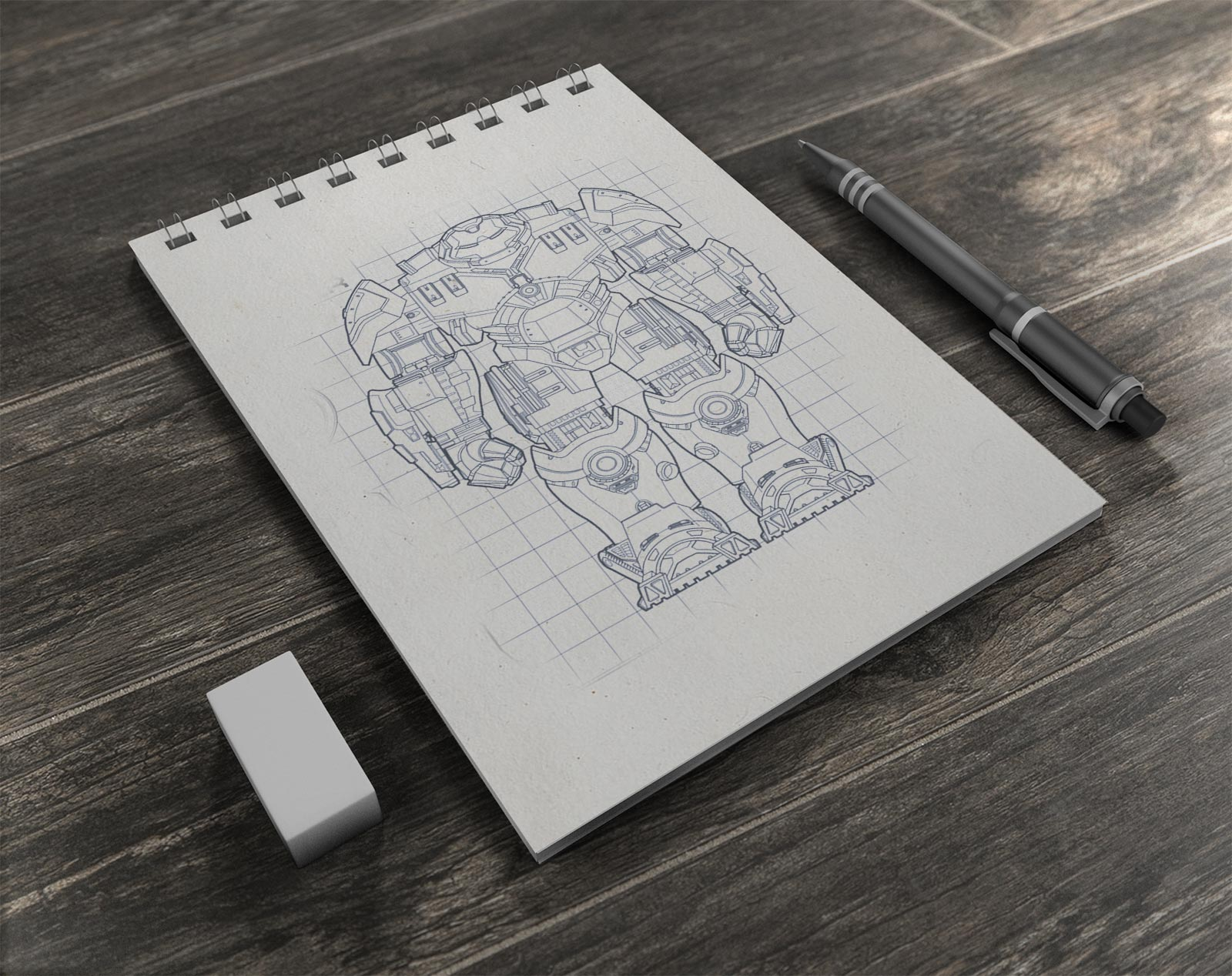 Free Illustrations / Drawing Sketchbook Mockup PSD - Good