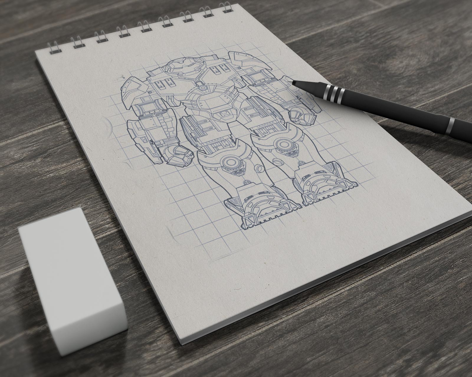 Free-Illustrations-Sketch-Book-Mockup-PSD