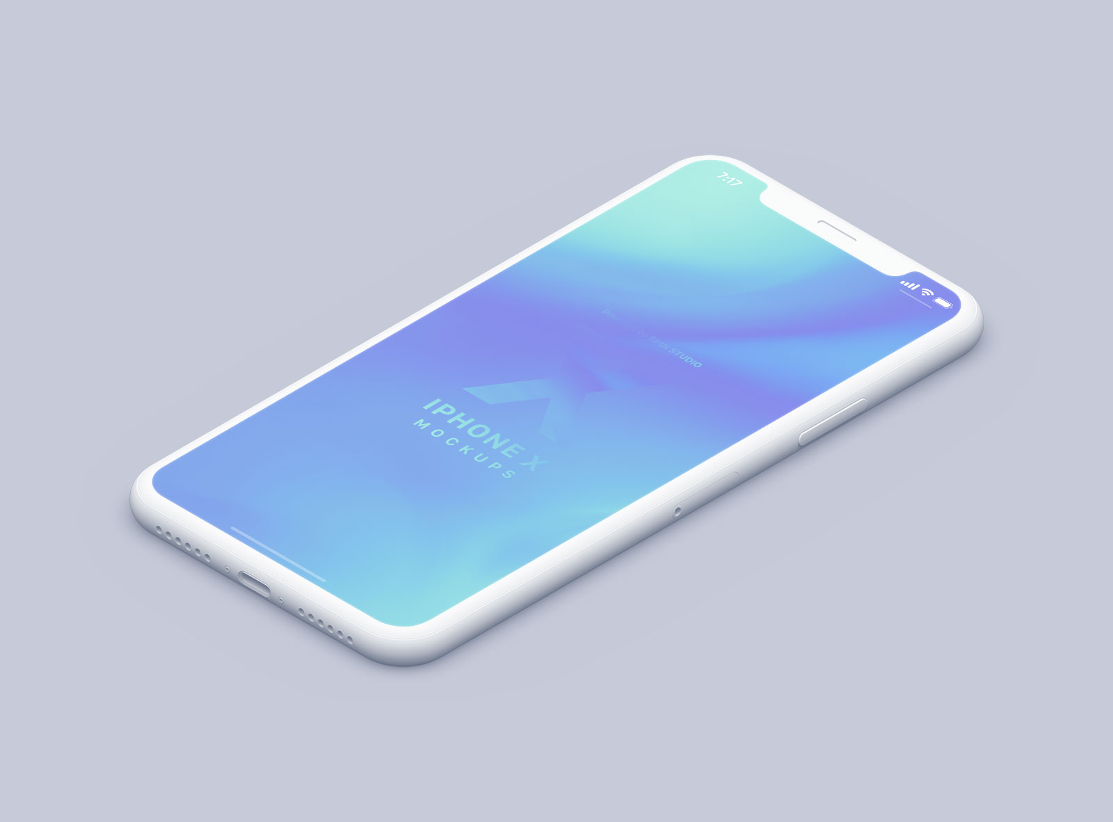 Free-Isometric-Clay-&-Realistic-iPhone-X-PSD-Mockups-2